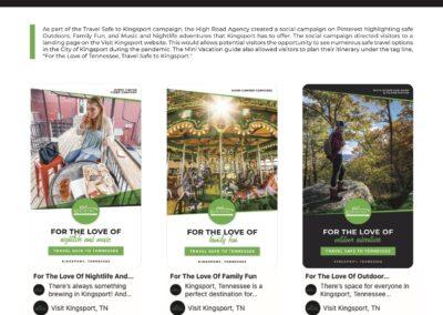 Kingsport Mini Vacations Social Campaign