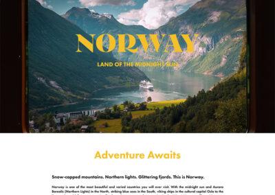 Norway Excursion Landing Page